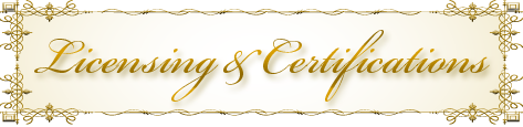 Licensing & Certifications