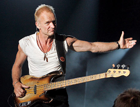 Sting taught at a girl